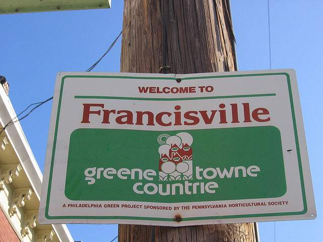 "Creative Commons: Eli Pousson ""Sign, Francisville, Philadelphia"""