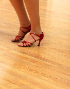 shoes on hardwood